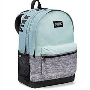 Pink VS mint blue back pack